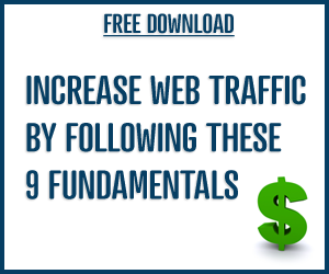 Increase web traffic with these 9 fundamentals