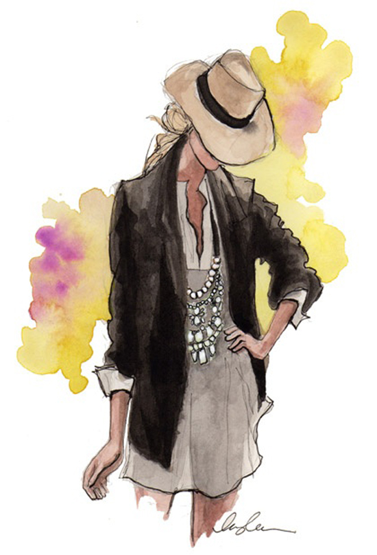 Inspirational art fashion illustrations
