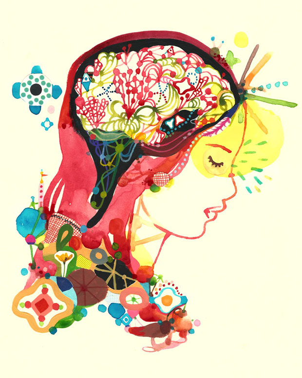 Colorful brain art
