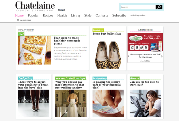 Chatelaine screenshot